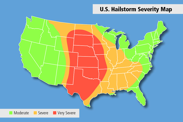 US Hailstorm Severity Map